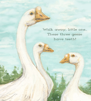 Geese have Teeth!, Illustration, 2015.