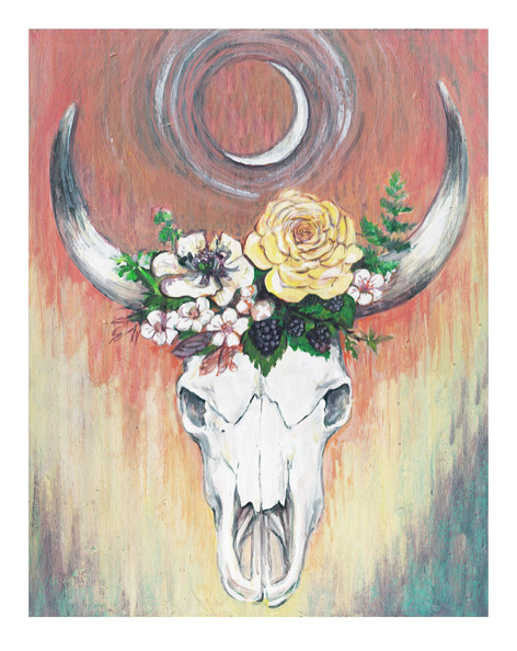 Sacred Bull, commissioned painting, 2016.