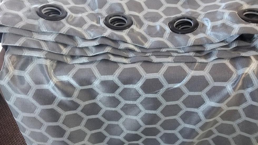 8mt Grey eyelet curtain
