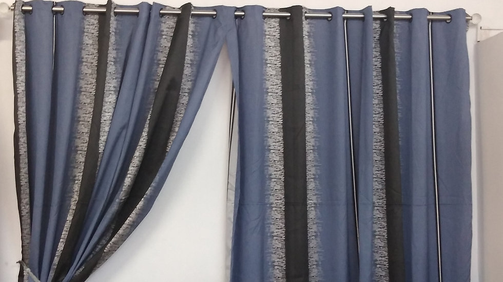 6mt Blue N Black Curtain