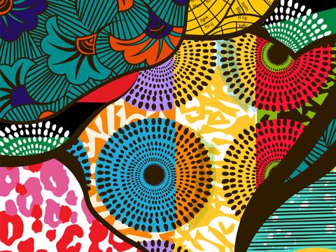 BlackBerry Vine Culture African Print Pattern Design
