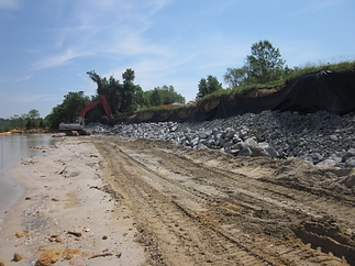 SNS - Shoreline Stabilization - During 5