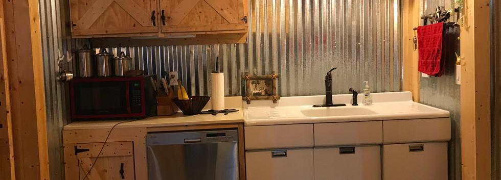 Full kitchen in the cabin