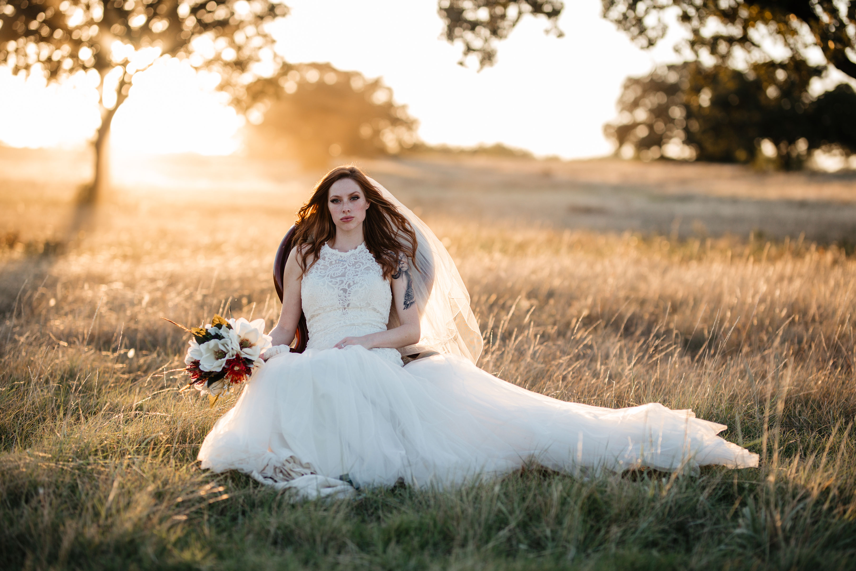 Gorgeous scenery for bridal portrait