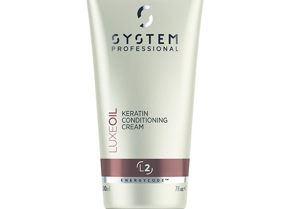 (L2)KERATIN CONDITIONING CREAM INSTANTLY SOFTENS AND PROTECTS KERATIN 200ml