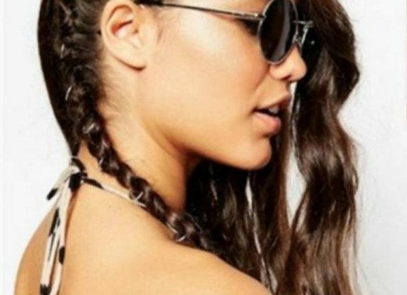 Silver rings hair accessories