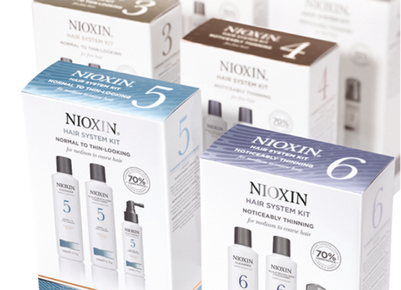 Nioxin Kit 6 For Chemically Treated Hair With Progressed Thinning