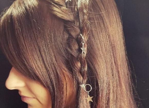 Gold star hair accessories