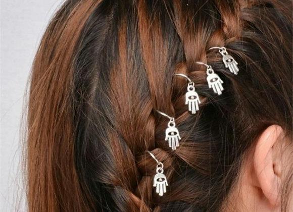 Silver Fatima hair accessories