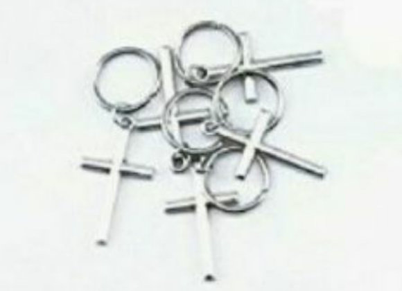 Silver cross hair accessories