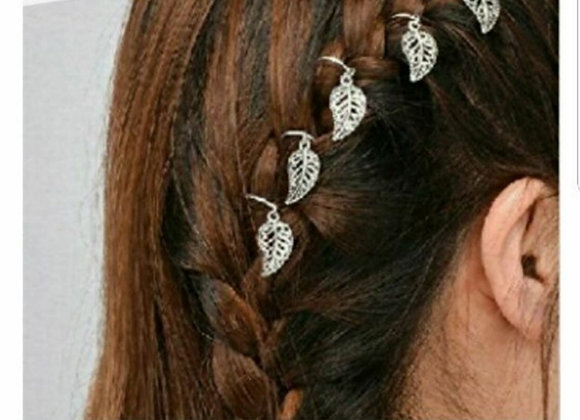 Gold leaf hair accessories