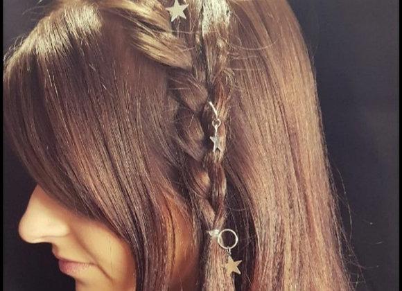 Silver star hair accessories