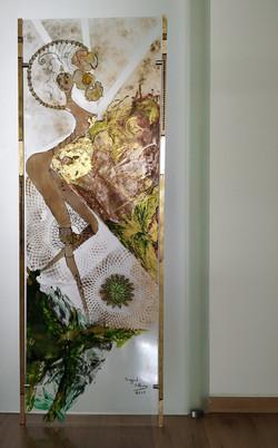 Glasbild 150 x 54 cm