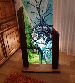 Aus meiner Serie abstrakte Glasmalerei