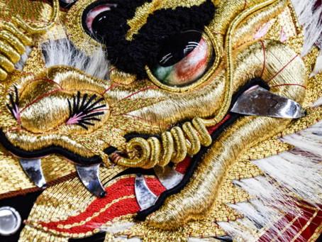 華やかな舞台を彩る刺繍 石見神楽が守る伝統の技 5