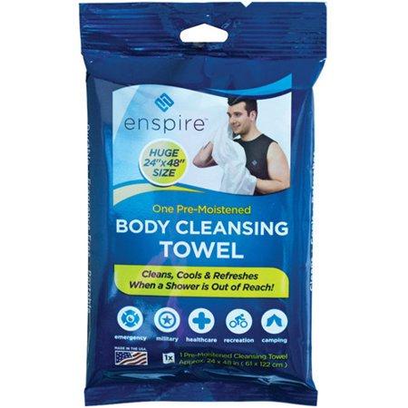 "Enspire Pre-Moistened 24"" X 48"" Body Cleansing Towel"