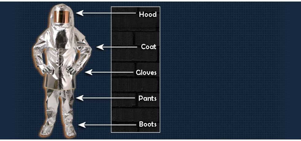 At Delta Industrial, we rent Aluminized Gear for your immediate needs. All garments are composed of Aluminized PBI / Para Aramid Ripstop Knit. Call us at (409) 724-1055 to reserve your gear today.