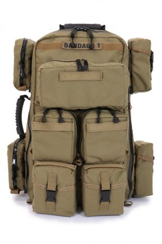 R&B Fab 371-A Tactical Medical Backpack w/ Pouches