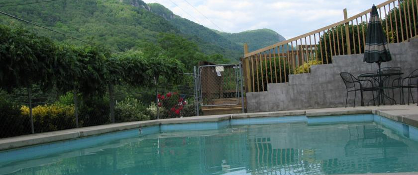 Chimney Rock Inn Pool View