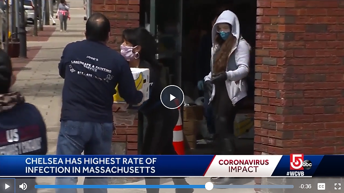 National Guard delivers food to Chelsea residents amid coronavirus crisis
