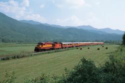 Train-hayfield