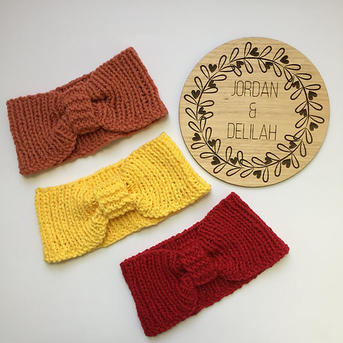 Nonna's Hand Knitted Ear Warmers
