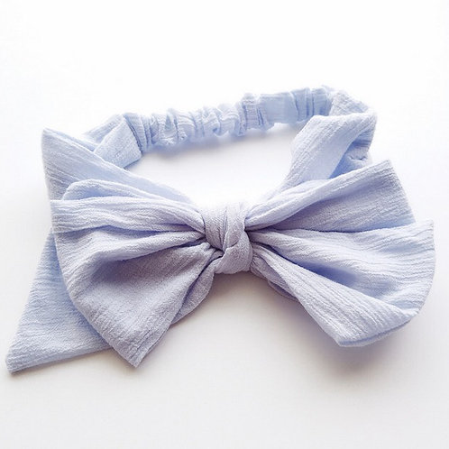 Big Bow Headbands - Blue & Pink available