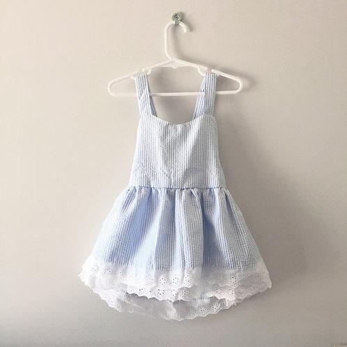 Blue Stripe Lace Dress