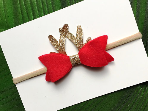 Reindeer Bow Headband
