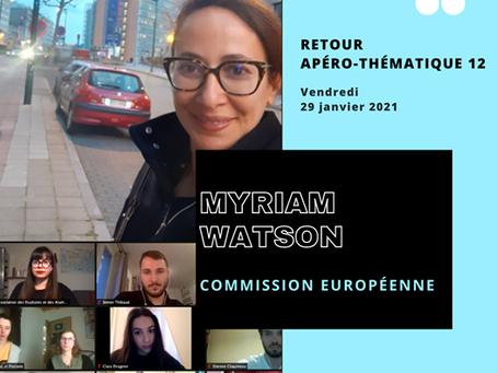 APÉRO-THÉMATIQUE N°12 - COMMISSION EUROPÉENNE