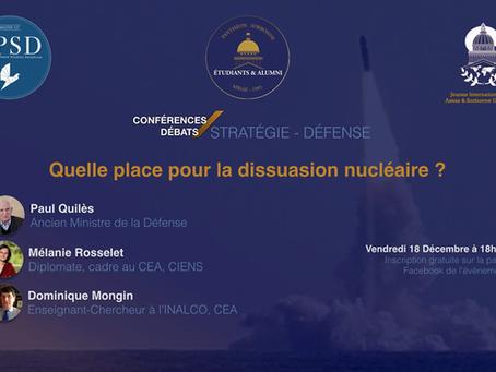 [Compte-rendu de conférence – Quelle place pour la dissuasion nucléaire ?]