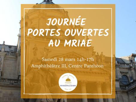 À VENIR : JOURNÉE PORTES OUVERTES 2020