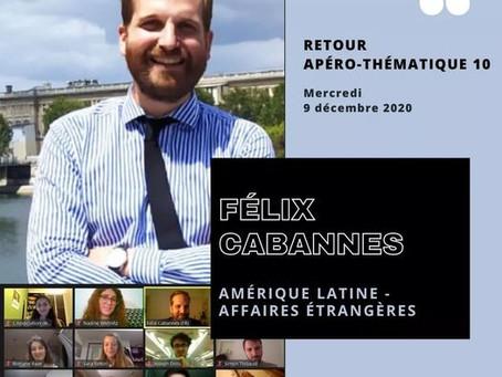 APÉRO THÉMATIQUE n°10 - Amérique Latine & Affaires étrangères