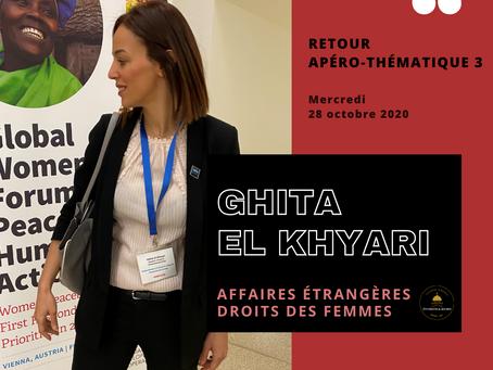 APÉRO THÉMATIQUE 3 – Affaires étrangères et droits des femmes