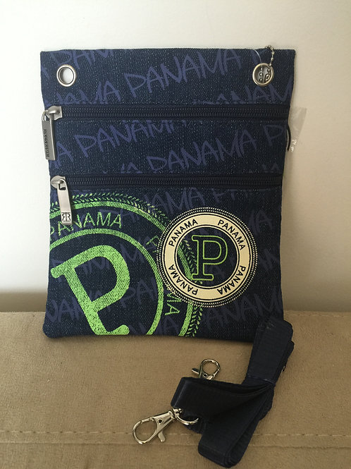 Bolso Pasaporte Jeans Verde