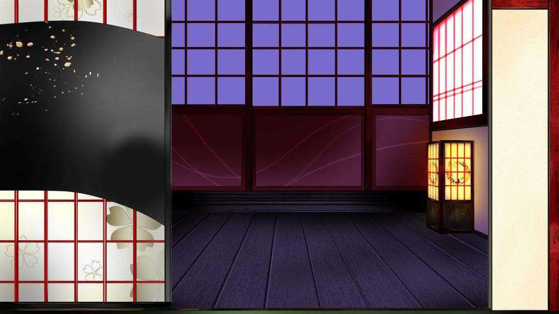 蓮太郎用椿の部屋襖(空)-夜.jpg