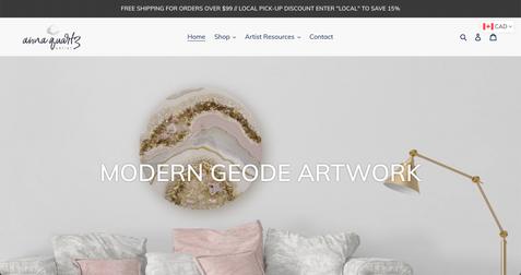 Anna Quartz - Modern Geode Artwork