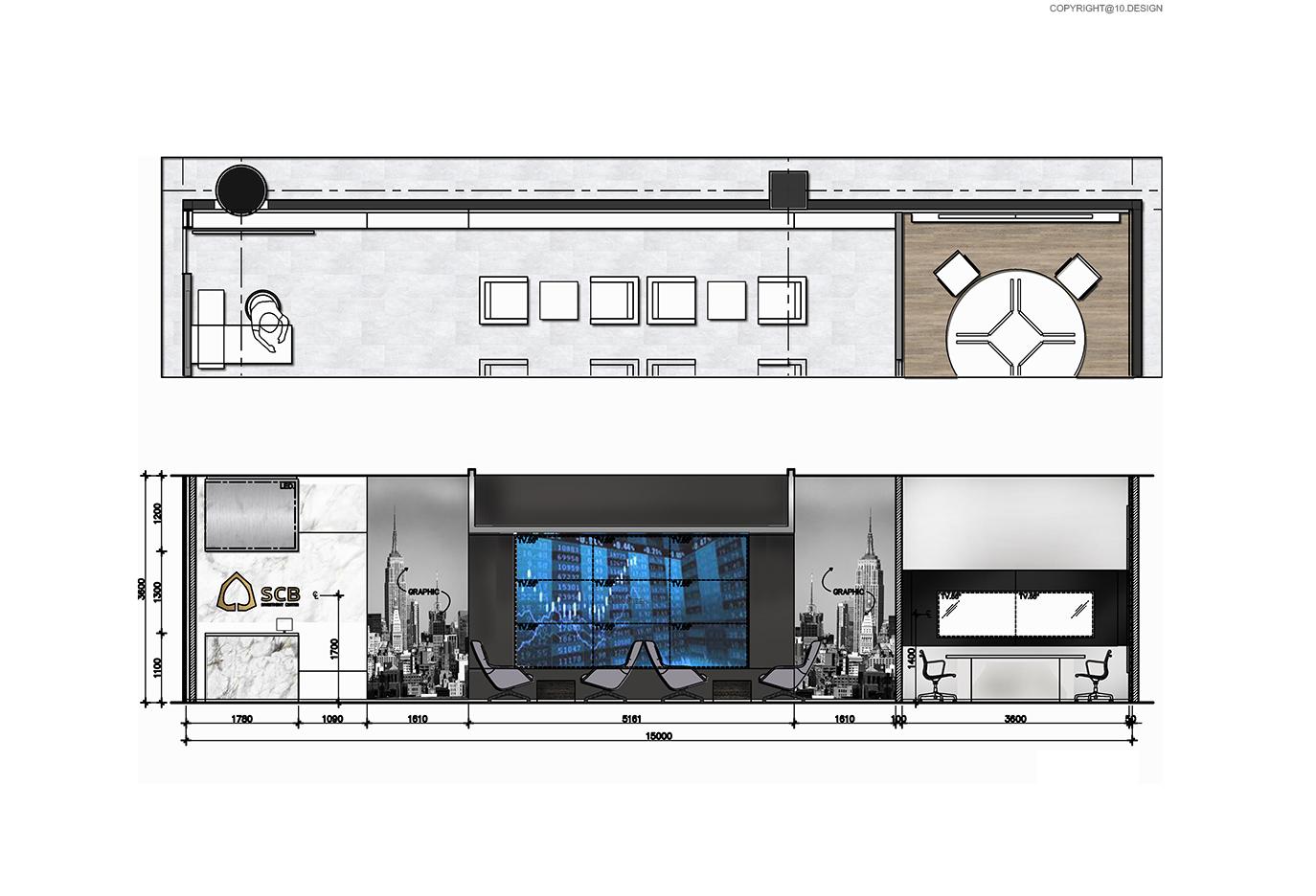 10 DESIGN SCB WEALTH INVESTMENT CENTER INTERIOR COMMERCIAL PROJECT CENTRAL KORAT BANK ELEVATION 01
