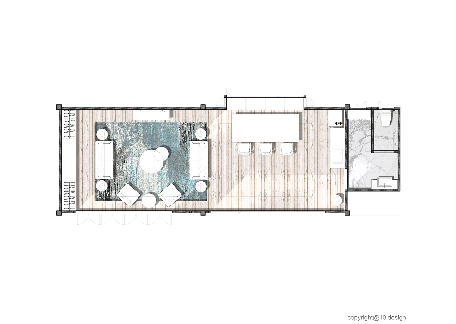 The clubhouse interior decoration 10design architecture vacation house 01