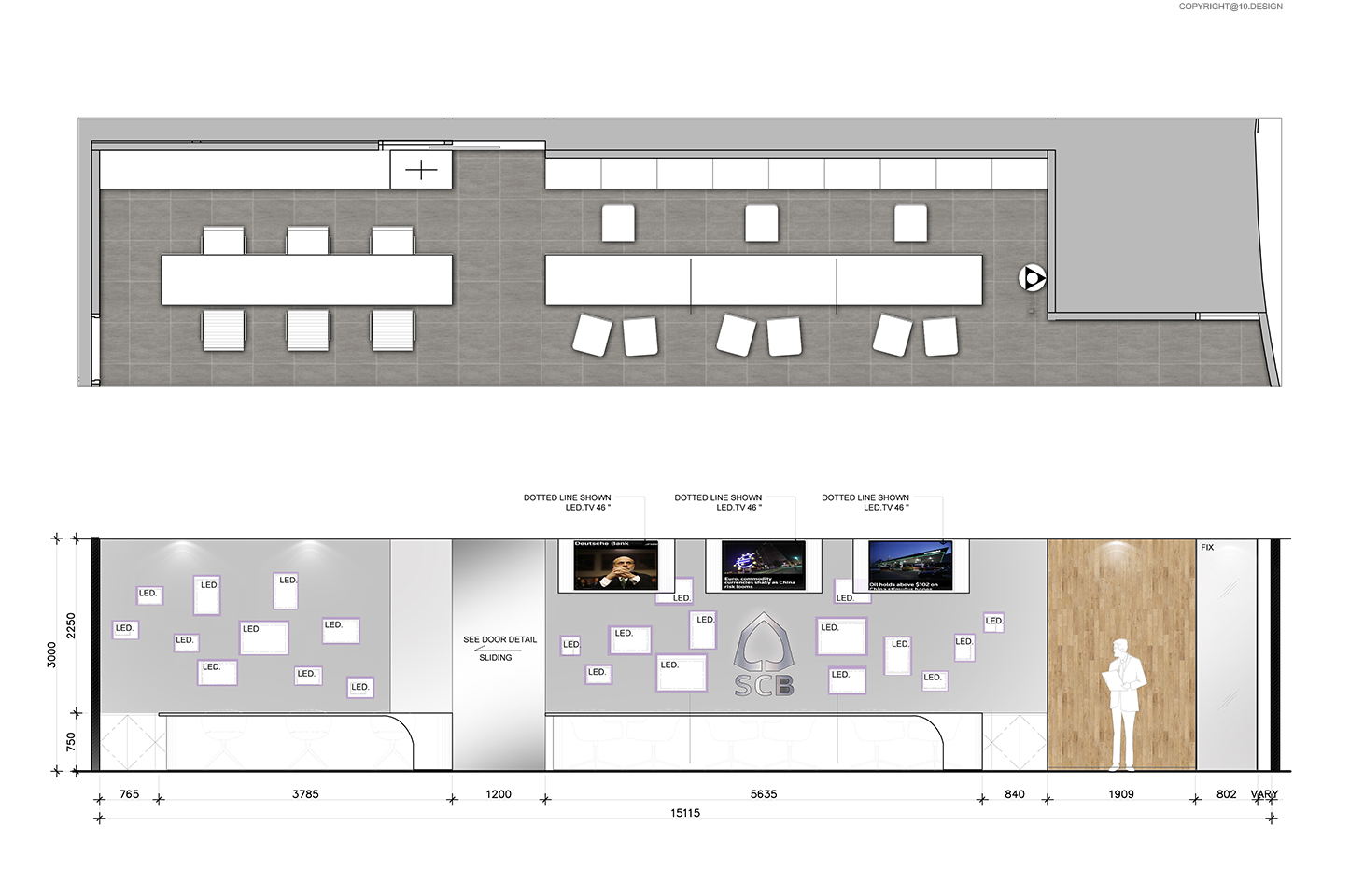 10 DESIGN SCB BANKING BUSINESS CENTER CENTRAL WORLD INTERIOR COMMERCIAL ELEVATION 03