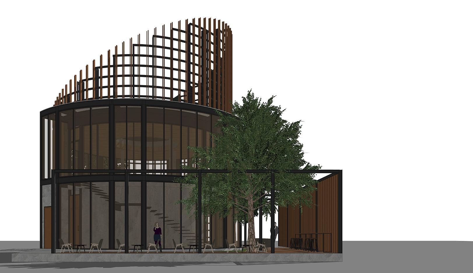 10DESIGN PTT GAS STATION LANDSCAPE ARCHITECTURE FACADE CURVE DESIGN PROJECT 03