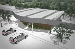 10DESIGN PTT GAS STATION LANDSCAPE ARCHITECTURE FACADE CURVE DESIGN PROJECT 10