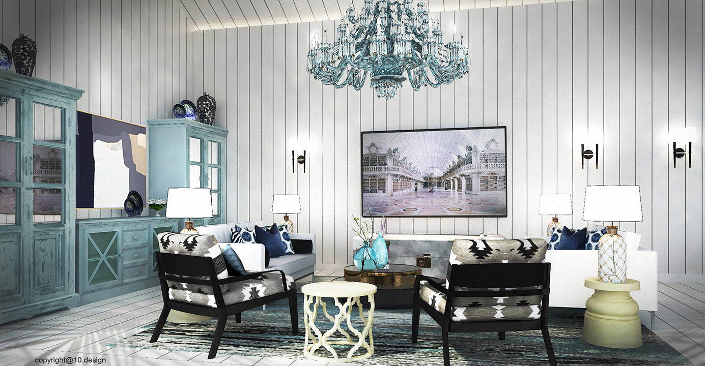 The clubhouse interior decoration 10design architecture vacation house 03
