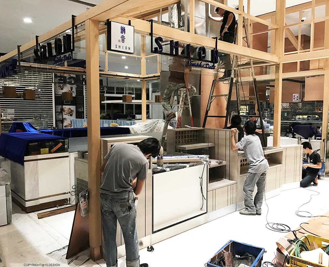 10 design shion sushi bar japanese booth takeaway interior emquartier bangkok CONSTRUCTION 05