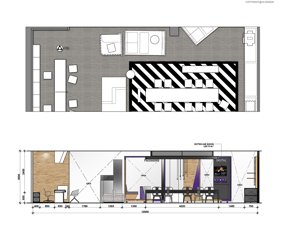 10 DESIGN SCB BANKING BUSINESS CENTER CENTRAL WORLD INTERIOR COMMERCIAL ELEVATION 01