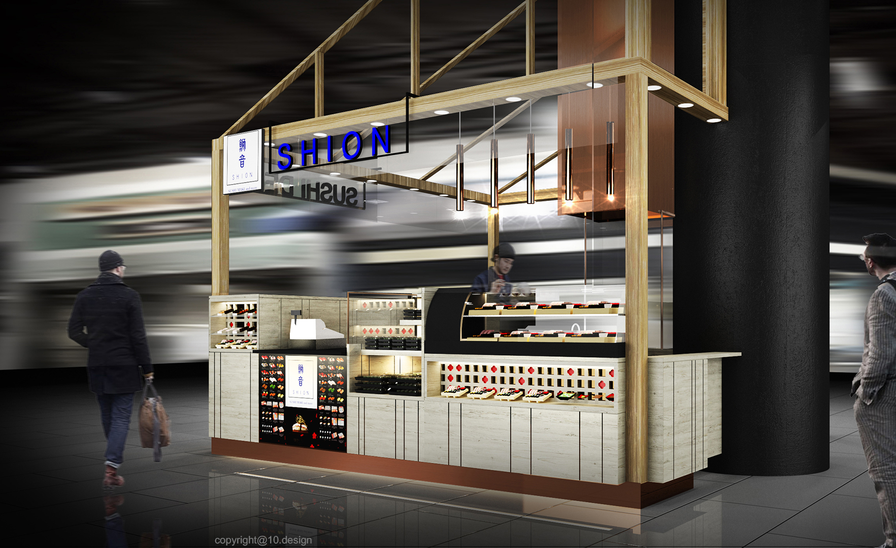 10 design shion sushi bar japanese booth takeaway interior emquartier bangkok 01