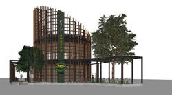 10DESIGN PTT GAS STATION LANDSCAPE ARCHITECTURE FACADE CURVE DESIGN PROJECT 05