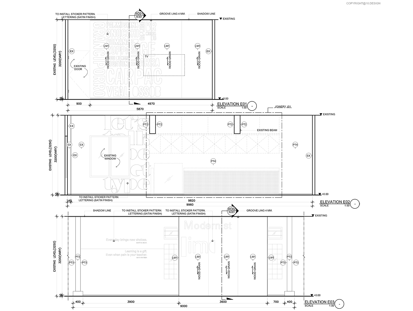 10DESIGN CHANWANICH CO WORKING SPACE CORPORATE OFFICE WORK PLACE INTERIOR DESIGN DRAWING 02