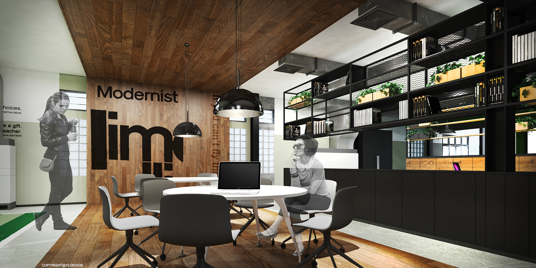 10DESIGN CHANWANICH CO WORKING SPACE CORPORATE OFFICE WORK PLACE INTERIOR DESIGN DRAWING 05