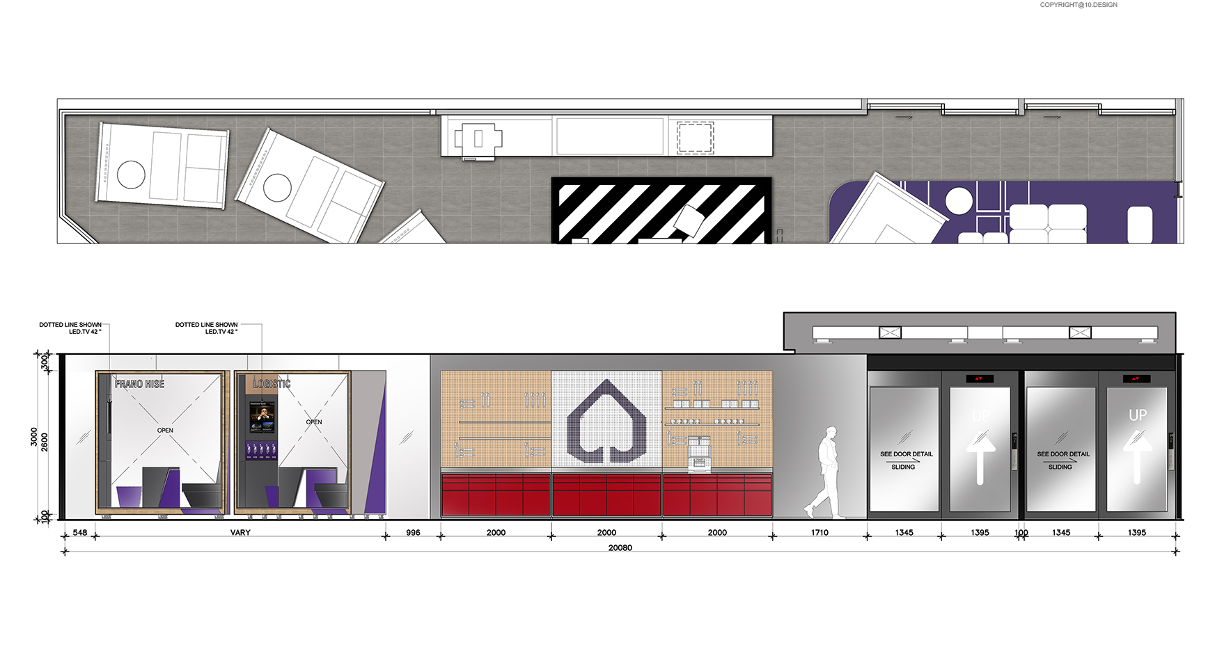 10 DESIGN SCB BANKING BUSINESS CENTER CENTRAL WORLD INTERIOR COMMERCIAL ELEVATION 04
